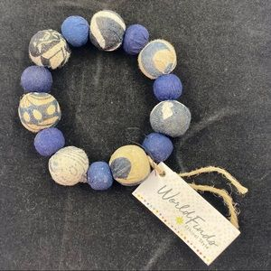 World Finds Ethical Style Bracelet in Blues